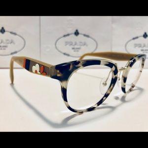 Prada Eyeglasses VPR03U Brown/Clear Havana New 49